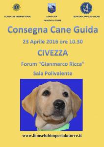 LOCANDINA A 3 consegna cane guida blu